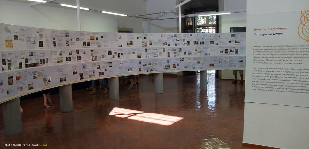 Bibliothèque du monastère, avec une exposition sur l'histoire du Portugal