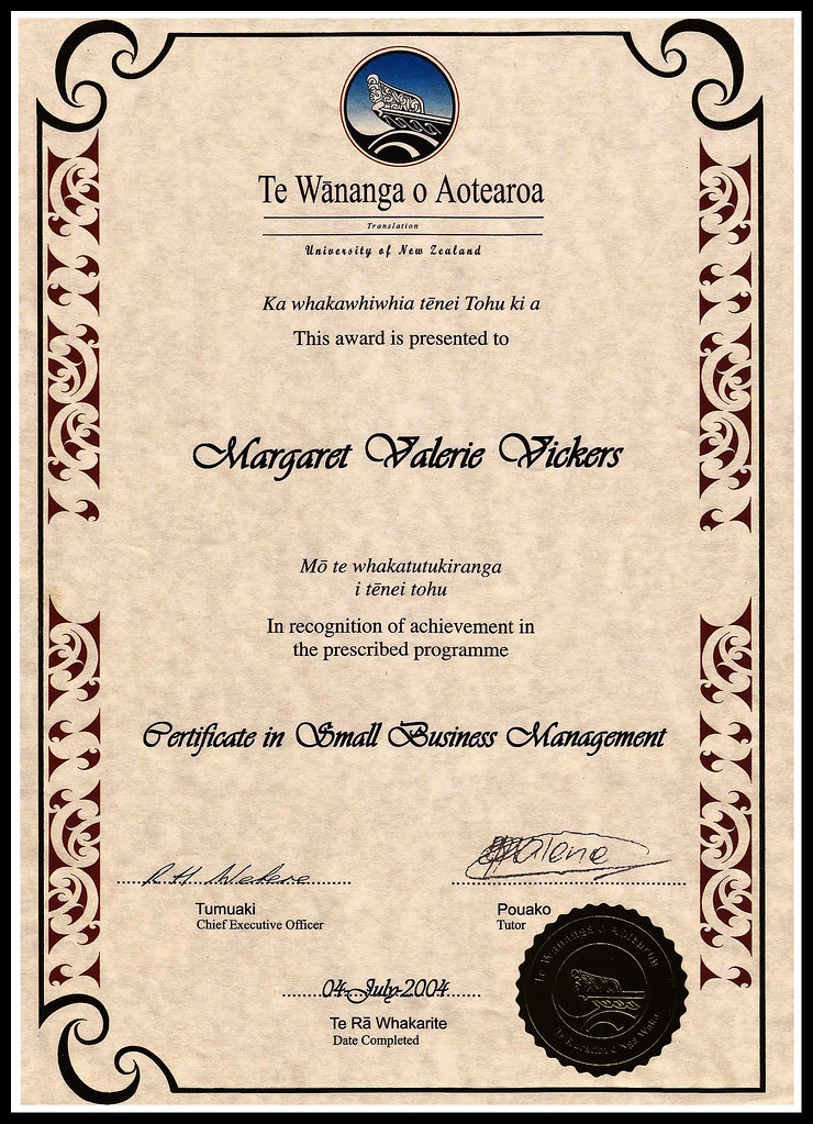Certificate In Small Business Management From The Te Wanan Flickr