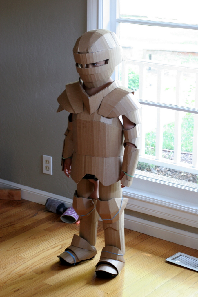 Knight costume, unpainted