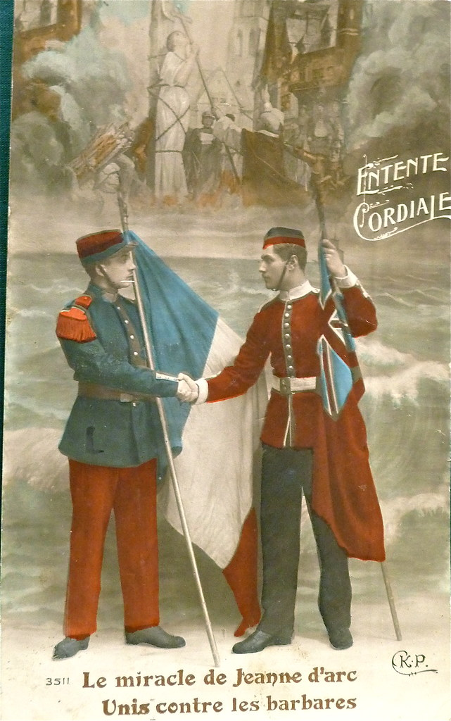"World War I French Postcard ""entente Cordial The Miracle"