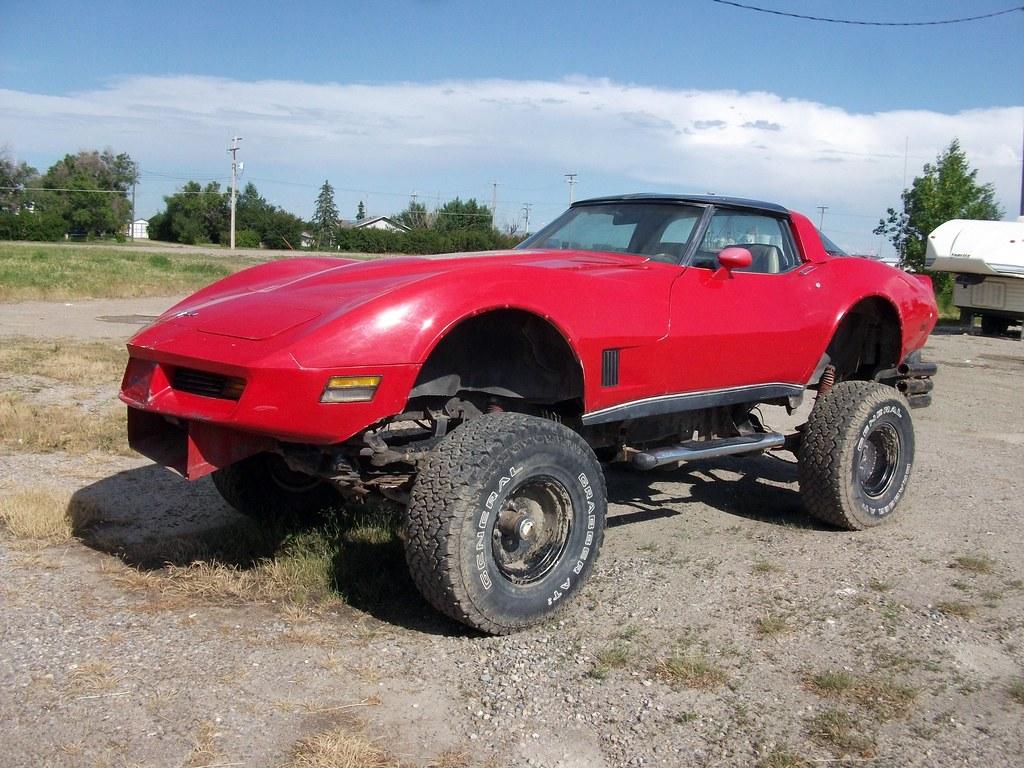 Chevrolet corvette 4x4 a 70s chevrolet corvette on some for Chevy truck with corvette motor