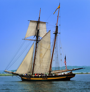"""Pride of Baltimore II""  (1800s-era tall ship)  Ludington ,  Michigan 
