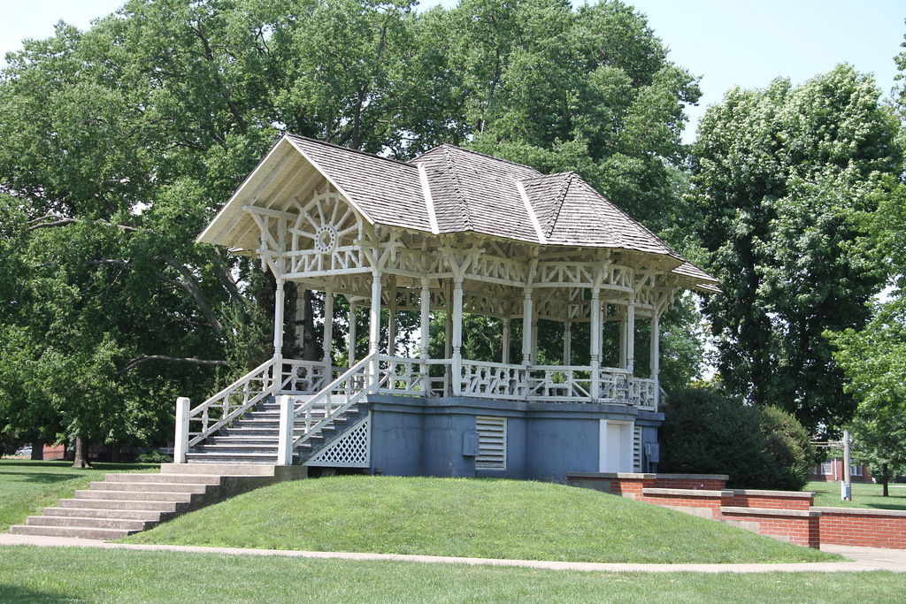Jacksonville Il Gazebo Bandstand Community Park Jackso