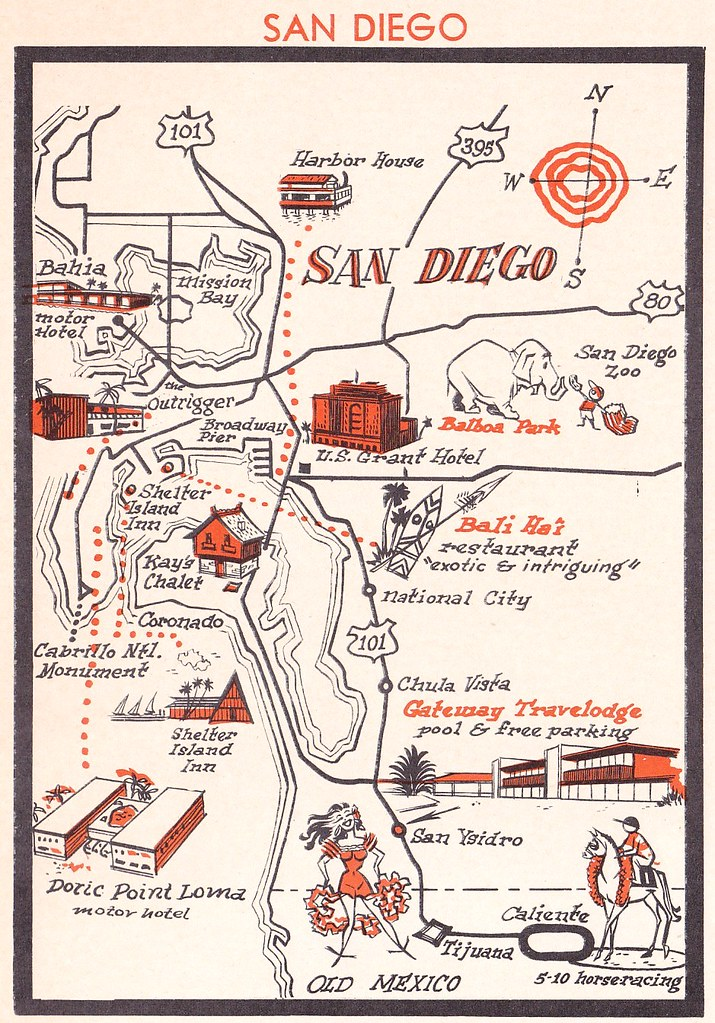 Vintage San Diego Map.Vintage San Diego Map 1962 Heather David Flickr