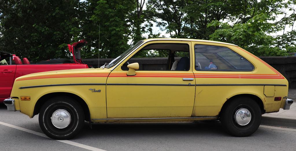 1979 Chevrolet Chevette   3-door hatchback yellow red ...
