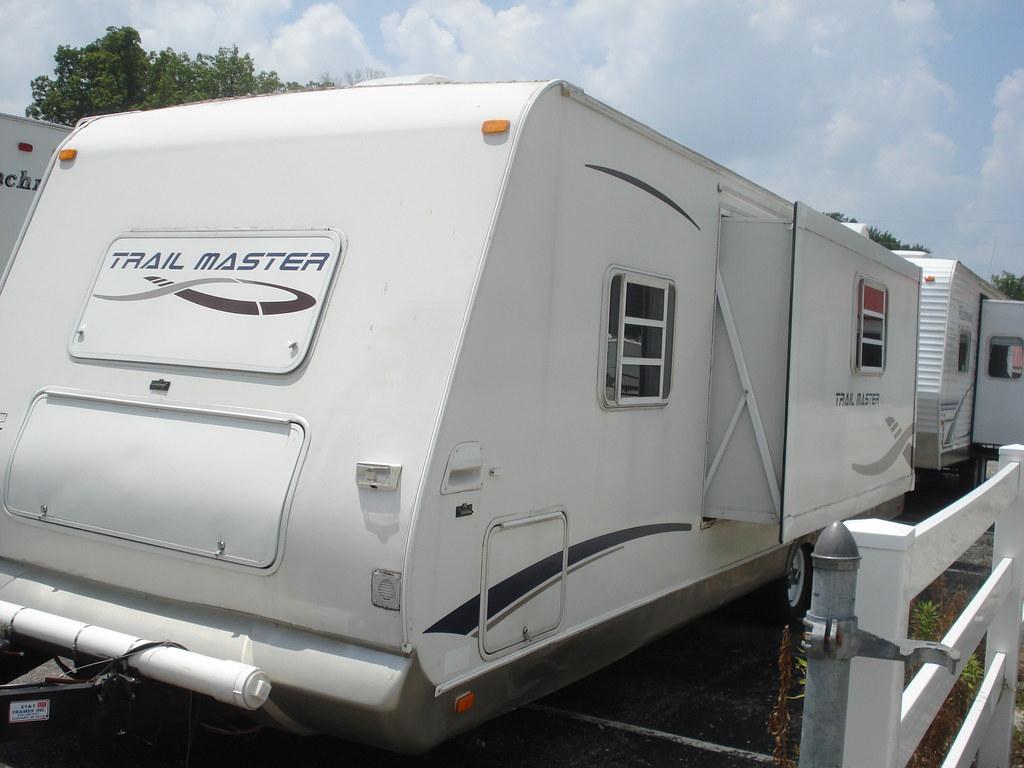 used gulfstream trail master pull behind camper exterior f flickr. Black Bedroom Furniture Sets. Home Design Ideas