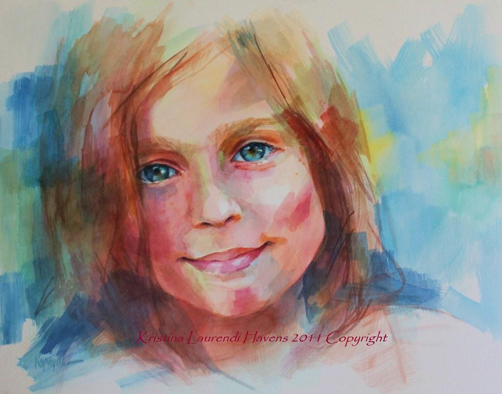Watercolor child portrait by krystyna81 watercolor child portrait by krystyna81