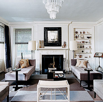 Thom Filicia Vogue Gray And White Eclectic Vintage Art