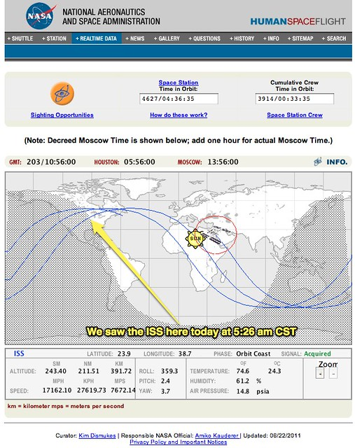 NASA Orbital Tracking - Pics about space