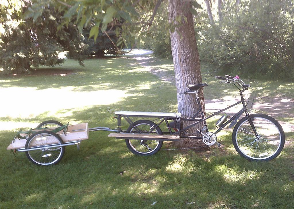 Recyclecycle And Diy Homemade Cargo Trailer Burley Conver