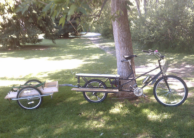 Recyclecycle And Diy Homemade Cargo Trailer Burley