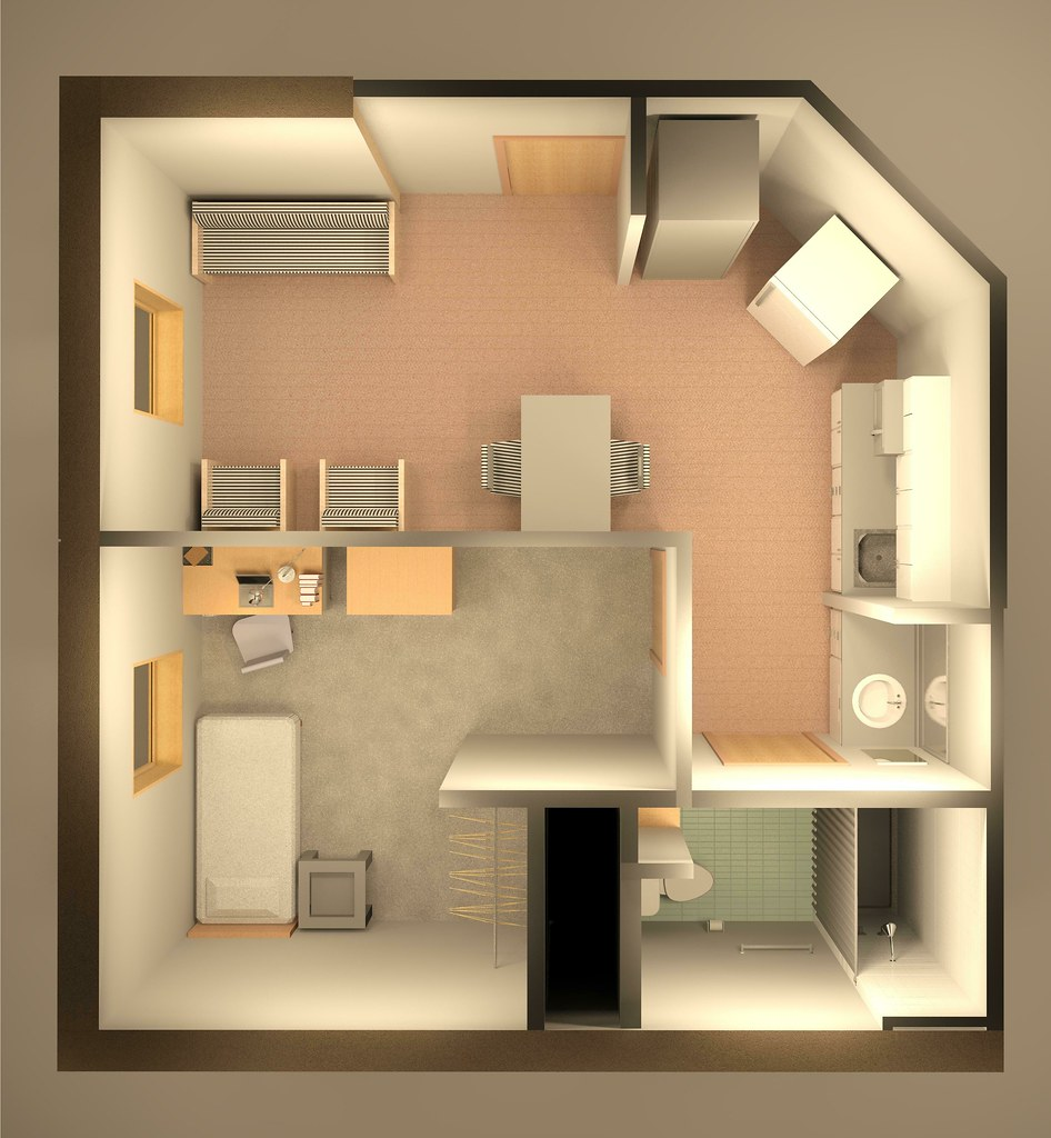 Bedroom Kitchenette
