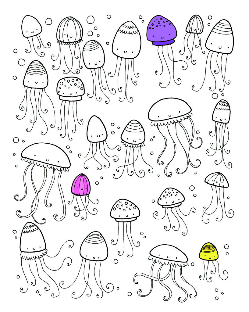 lots of things to find and colour on holiday jellyfish flickr - Things To Colour In