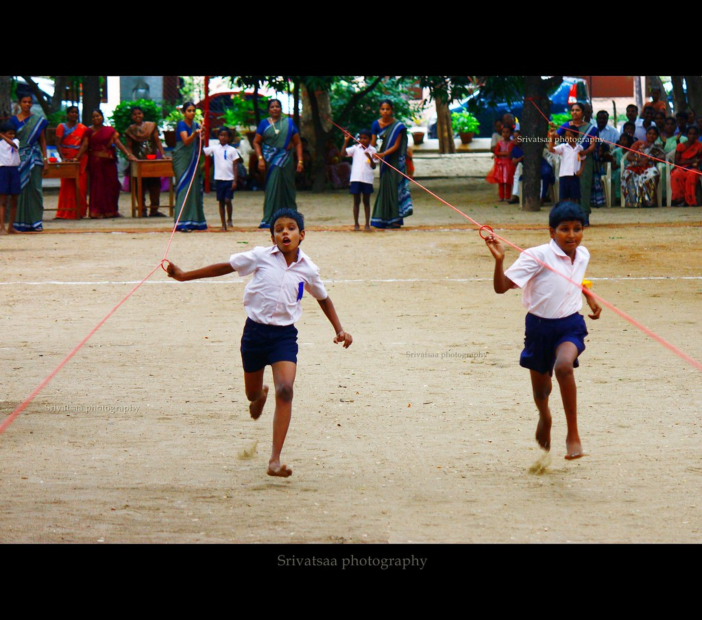 Running Race for Visually Impaired children . They are pro ... Children Running Race