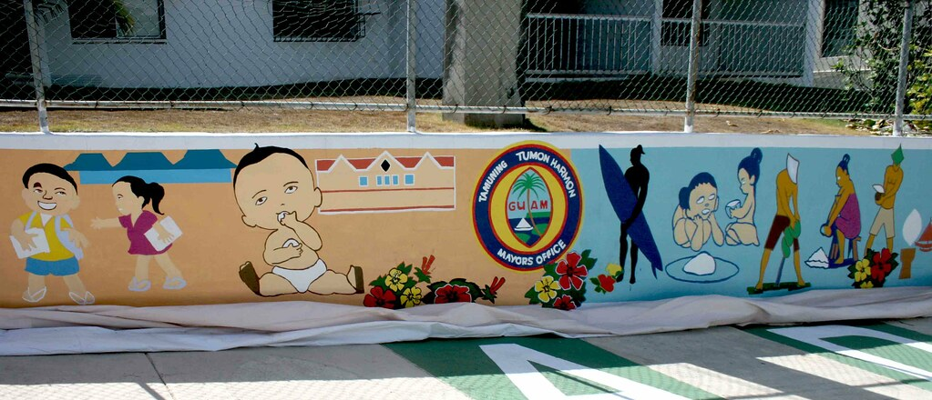 Tamuning Mural By Greg Flores Greg Flores Designed And Pai Flickr