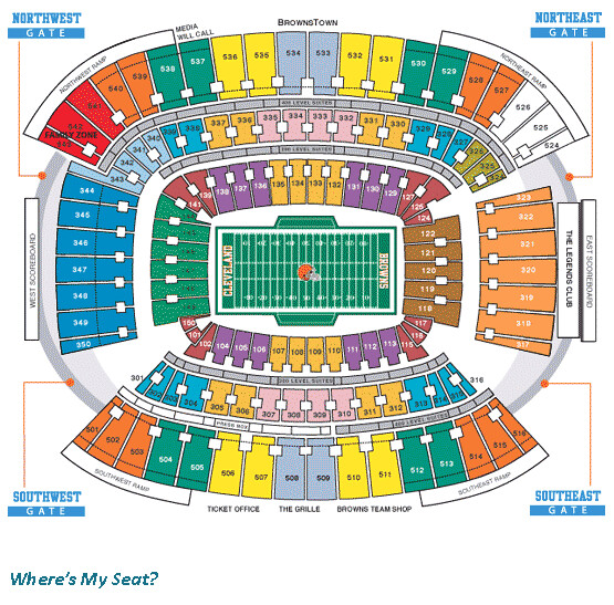 Cleveland Browns Stadium Seating Chart | Where's My Seat ...