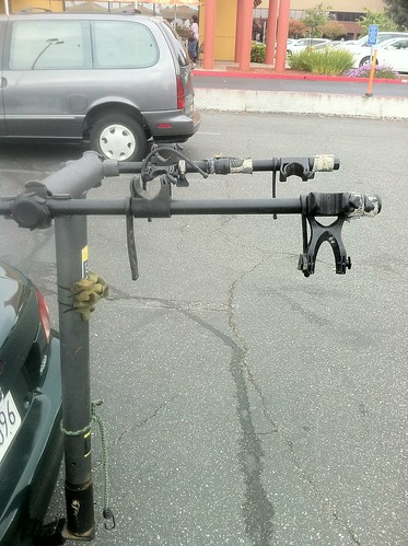 Noticing that I've modified my bike rack in four (ghetto) ways since getting it. | by Slonie