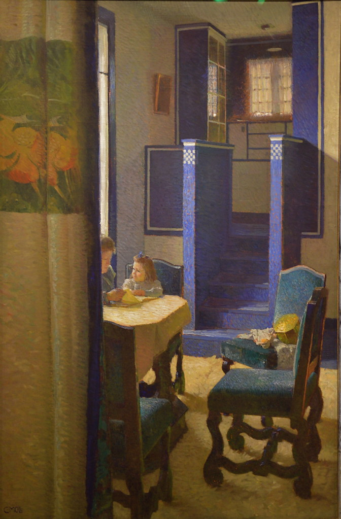Salon in the house on hohen warte 1903 carl moll flickr for Carl stuer interieur