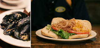 Mussels & Shrimp Po' Boy from Hymans in Charleston, SC | by Wayfaring Wanderer