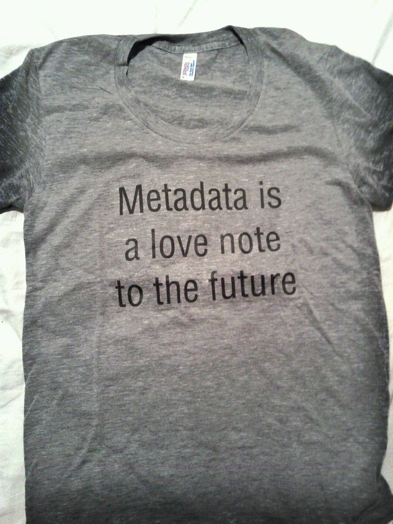 Metadata is a love note to the future t shirt is made for Love notes brand shirt