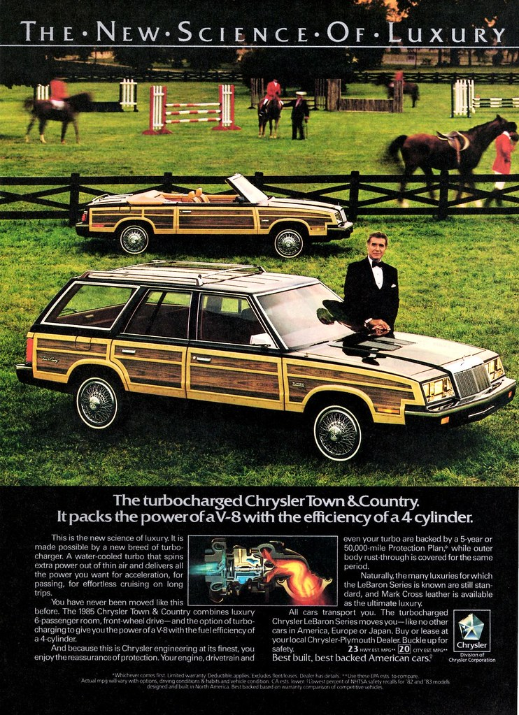 1985 Chrysler Town Country Station Wagon And Convertible