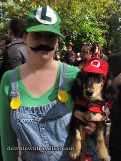 Tompkins Park Halloween Dog Parade_Dachshund as Mario and Luigi | by Downtown Traveler