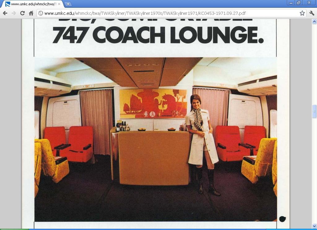 N604TW Boeing 767-231 January 1986   Aircraft interiors ...  Twa 747 Cabin