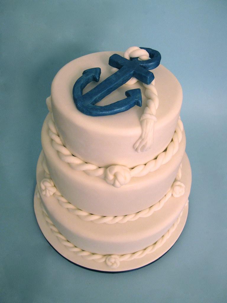 Navy Birthday Cake