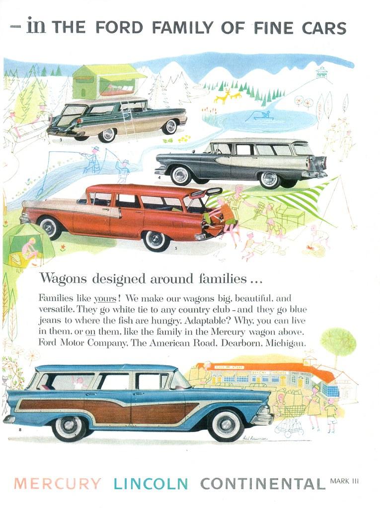 1958 ford motor company station wagons usa p2 michael for Ford motor company usa
