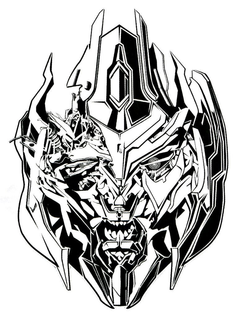 Transformers Dotm Megatron Dotm Megatron bw Line