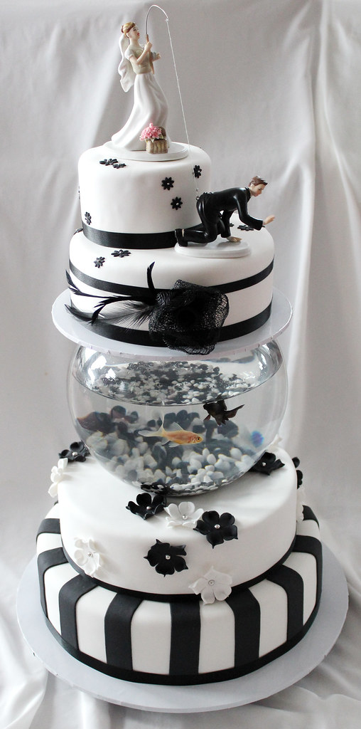 Cake With Live Fish In Tank
