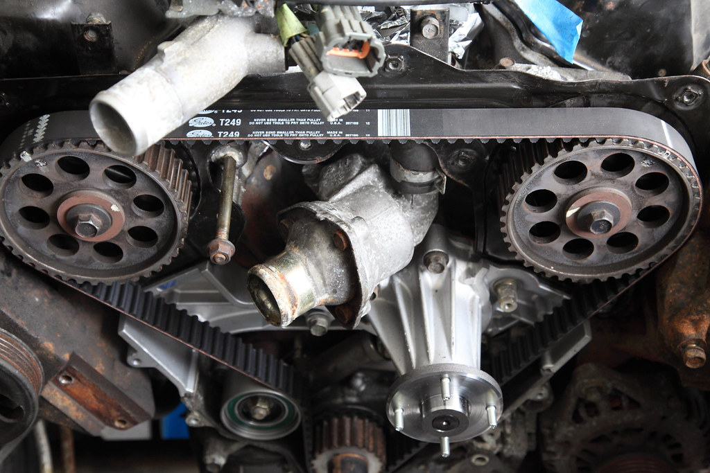 Vg33e Timing Belt Tensioner And Water Pump Dwightsghost