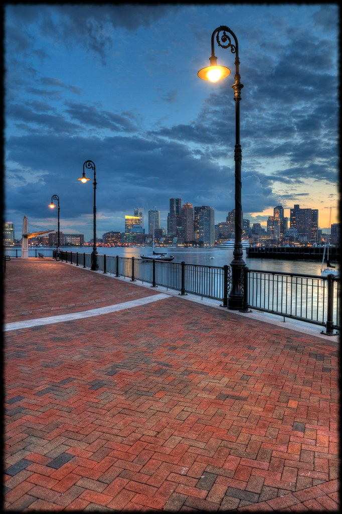 East Boston Piers Park Lights Stas B Flickr