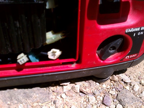 Open the switch to turn on spent a long time checking car - Is it bad to run a generator out of gas ...