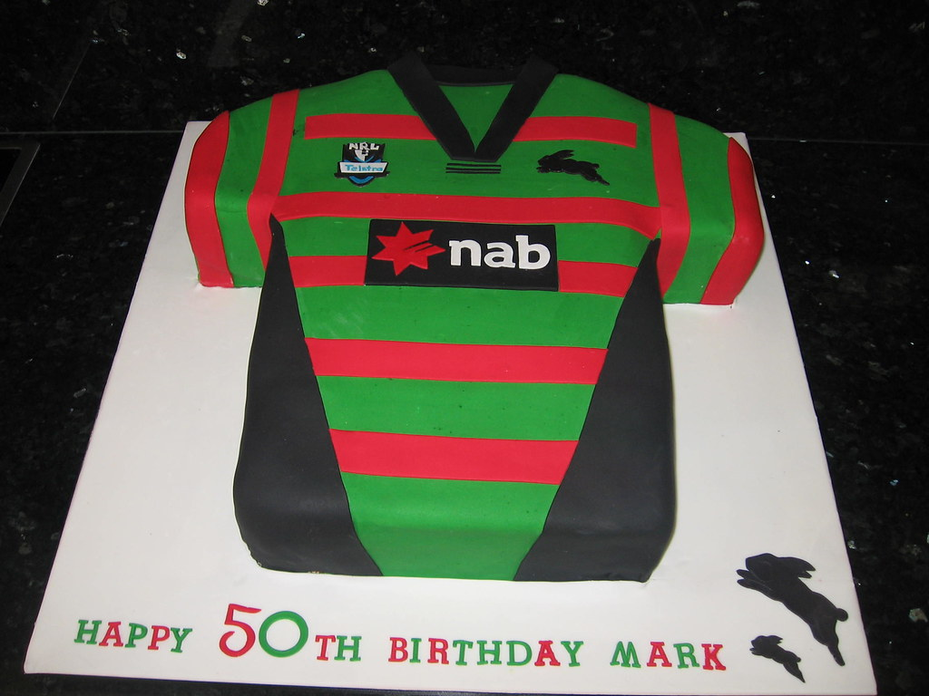 South Sydney Jersey Cake 18 Inch Chocolate Mud And