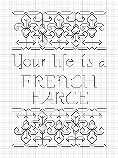 French farce pattern my dad said this to me a little for Farcical in french
