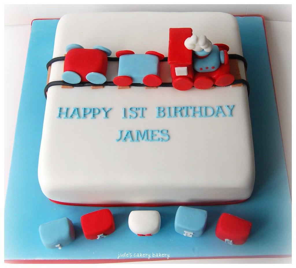 1st birthday block cake