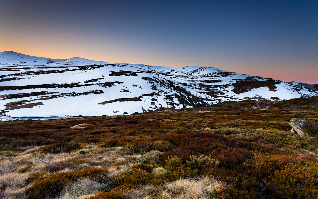 Australian Alps Spring Sunset Kosciuszko National Park