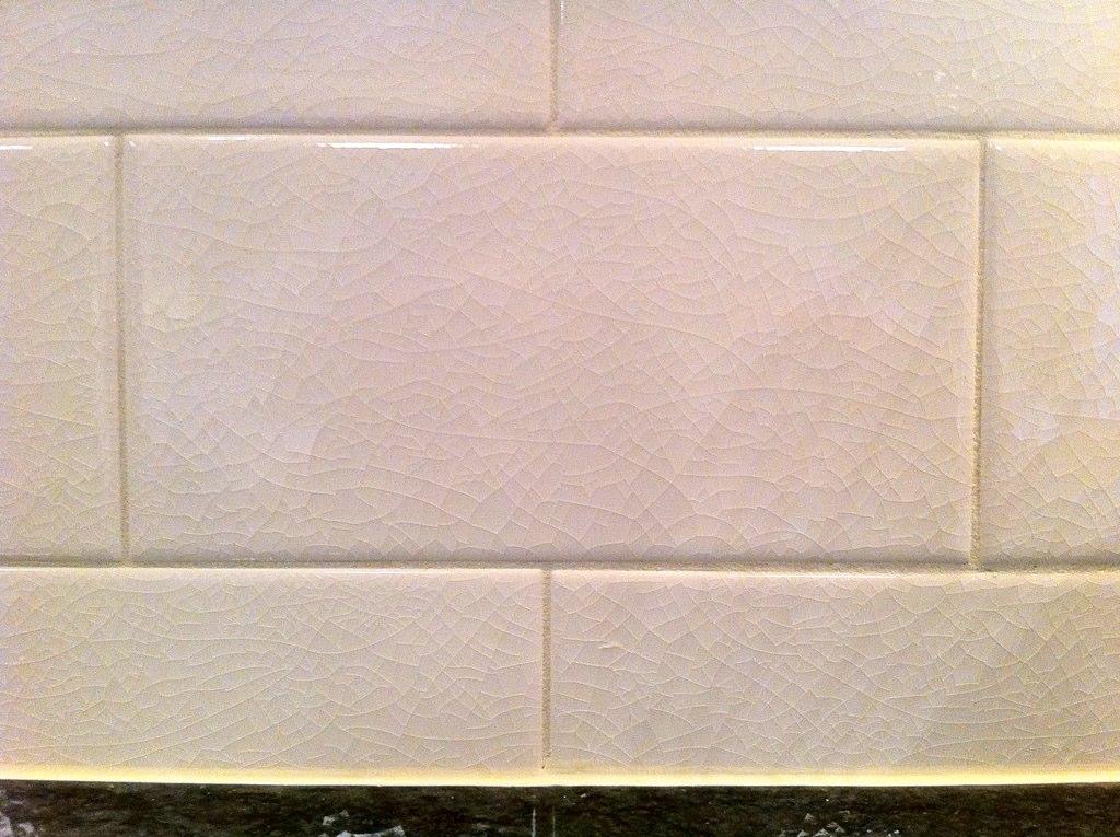 Backsplash Uses Crackled Subway Tiles Mykl Novak Flickr