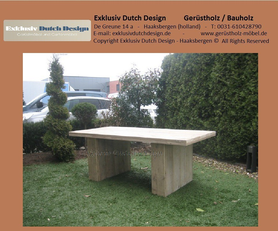 bauholz tisch esstisch5. Black Bedroom Furniture Sets. Home Design Ideas