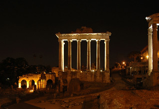 Temple of Saturn. Night view. Rome, Roman Forum. | by S.Sosnovskiy