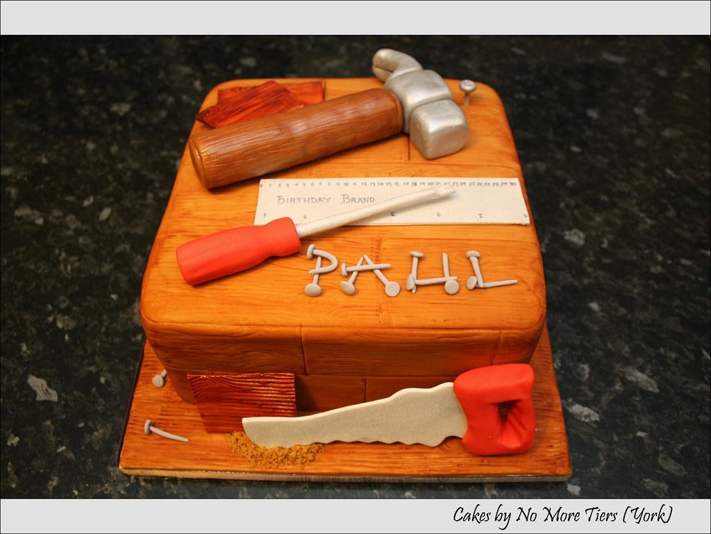 Carpentry Diy Cake Rich Fruit Cake For A Carpenter Joiner Flickr