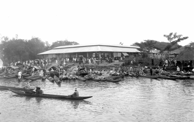 canoes along the shore at the market hagonoy bulacan