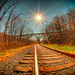 Fall Railroad Tracks