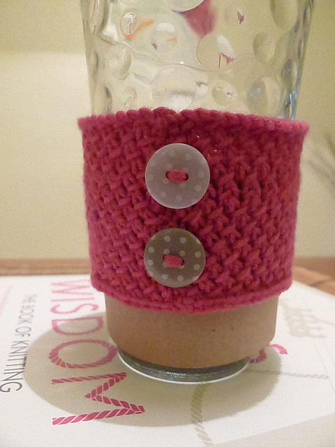 Knitting Pattern For Mug Holder : Knitted Cup Holder Flickr - Photo Sharing!