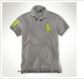 61f74d3c6982 ... Custom-Fit Neon Big Pony Polo Quartz Grey Electric Lime ralph lauren  homme soldes