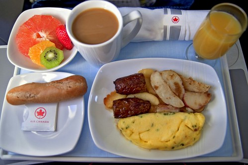 Air Canada Business Class Breakfast - Canon EOS REBEL T1i + Tamron SP AF 17-50mm f/2.8 lens | by Moncton Photographer