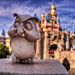 Disneyland Owl and Sleeping Beauty's Castle HDR-3983