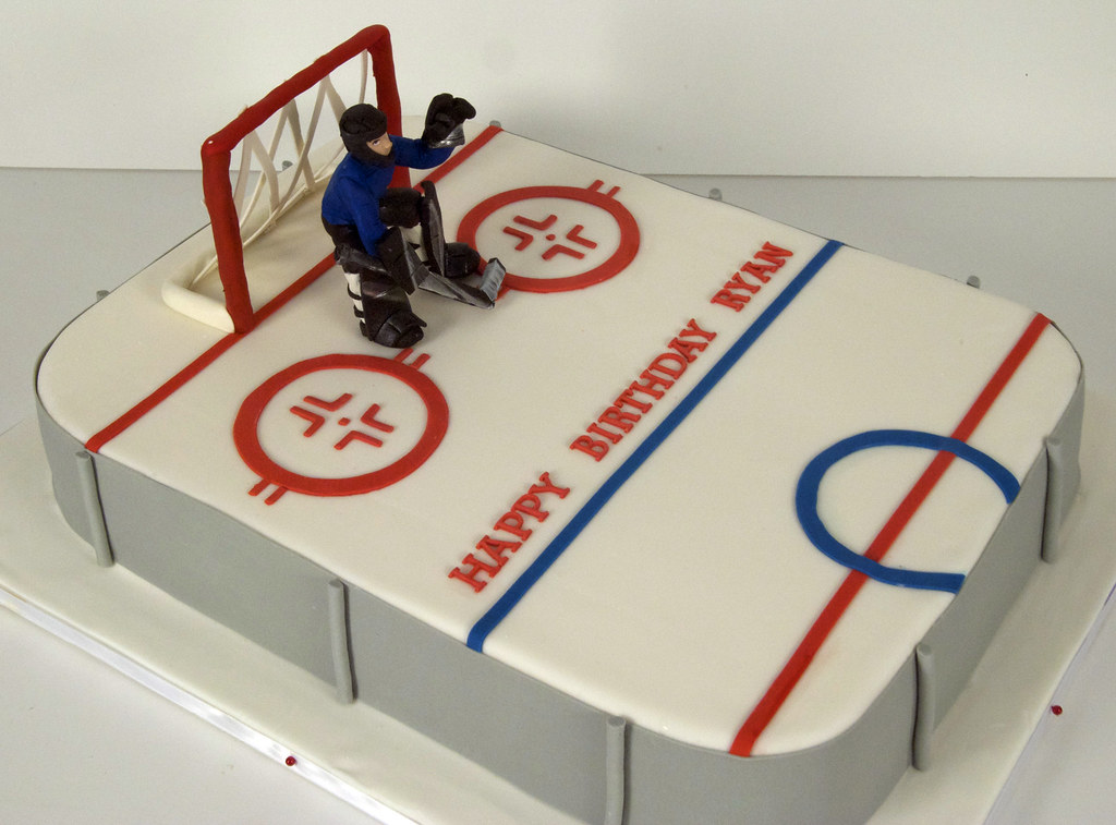Ice Hockey Rink Cake