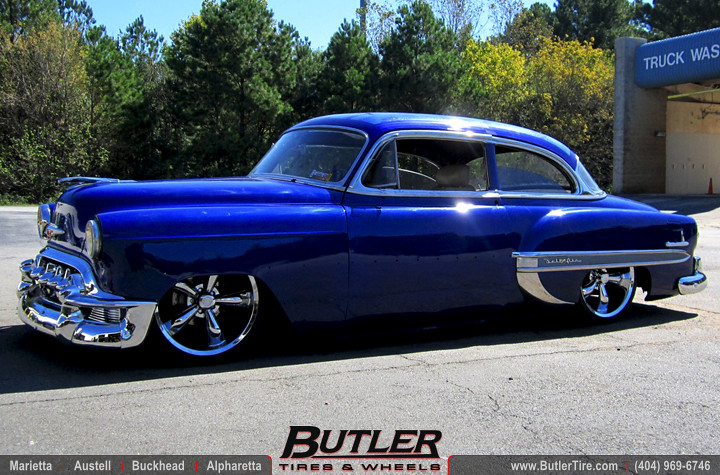 Chevrolet Bel Air >> 1953 Chevy Bel Air with 20in Vision Legend Wheels | Addition… | Flickr